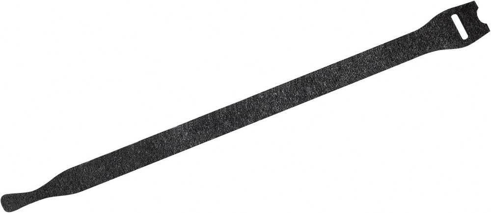 Sprijemalna kabelska vezica Fastech E7-2-330-B10, (D x Š) 200 mm x 7 mm, črna, 10 kosov