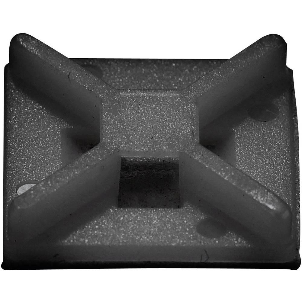 Pritrdilno podnožje 4 stransko črne barve Conrad Components 541227 50 kos