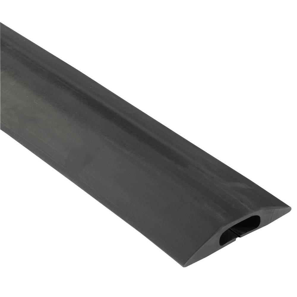 Talna zaščita za kable Vulcascot Snap Fit B, (D x Š x V) 3.000 x83 x 14 mm, črne barve, 1 kos