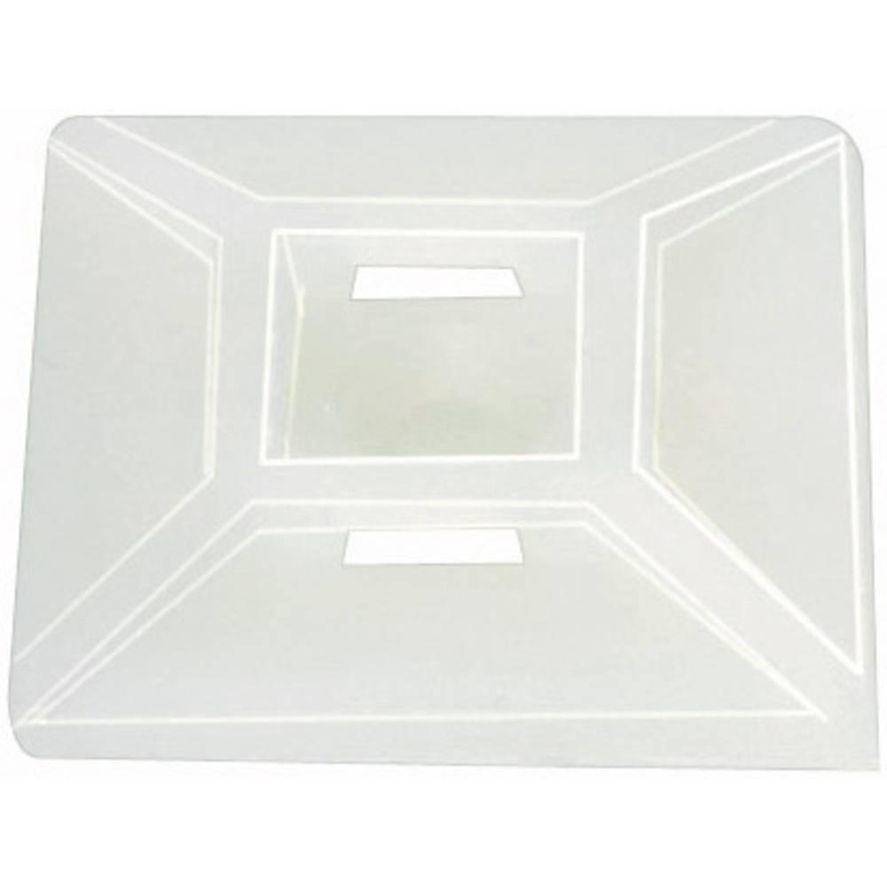 Pritrdilno podnožje, samolepljivo, namestitev s privijanjem transparentne barve HellermannTyton 151-28459 MB4CA-PA66-NA-C1 1 kos