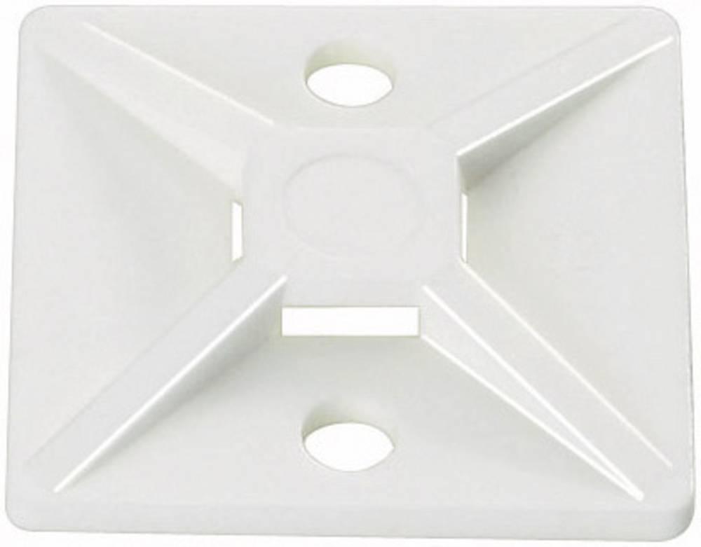Pritrdilno podnožje, samolepljivo, namestitev s privijanjem transparentne barve HellermannTyton 151-28469 MB4A-PA66-NA-C1 1 kos
