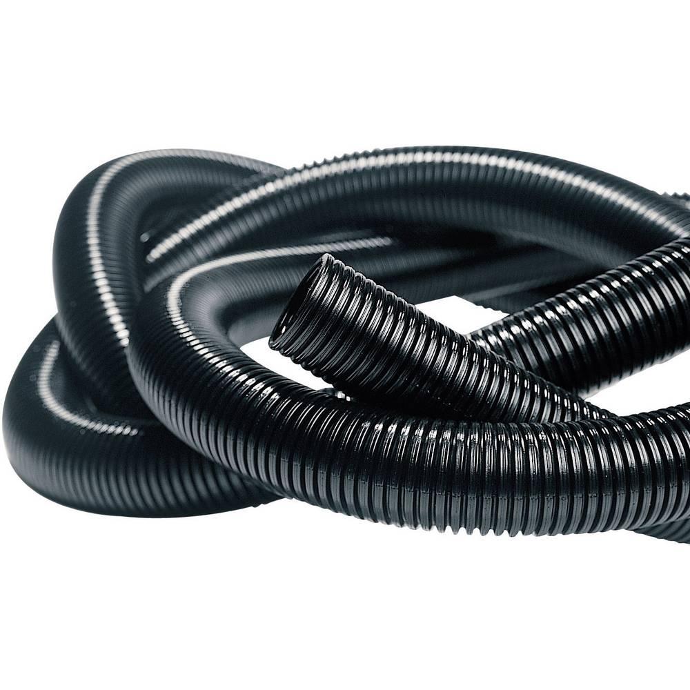Isolvin® IWS valovita cev črne barve 50 m HellermannTyton