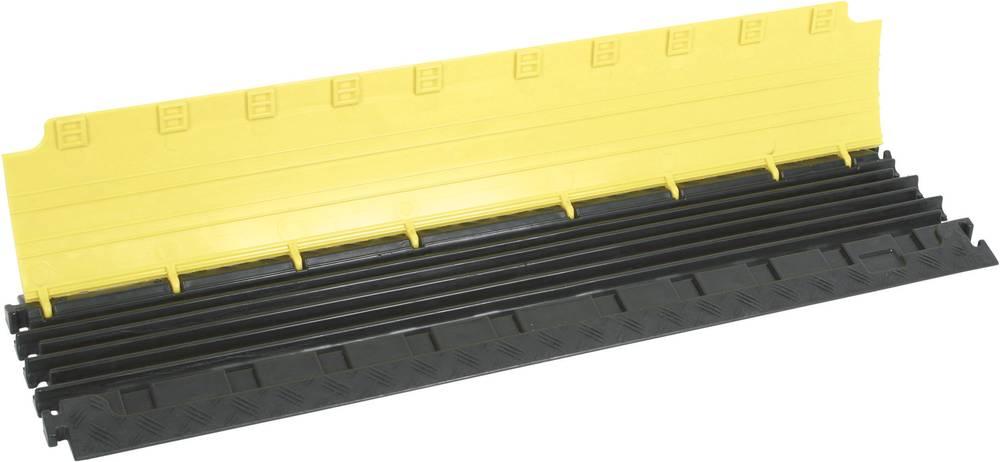 Talna zaščita za kable DEFENDER® NANO (D x Š x V) 1000 x 280 x 32 mm črna, rumena Adam Hall vsebina: 1 kos
