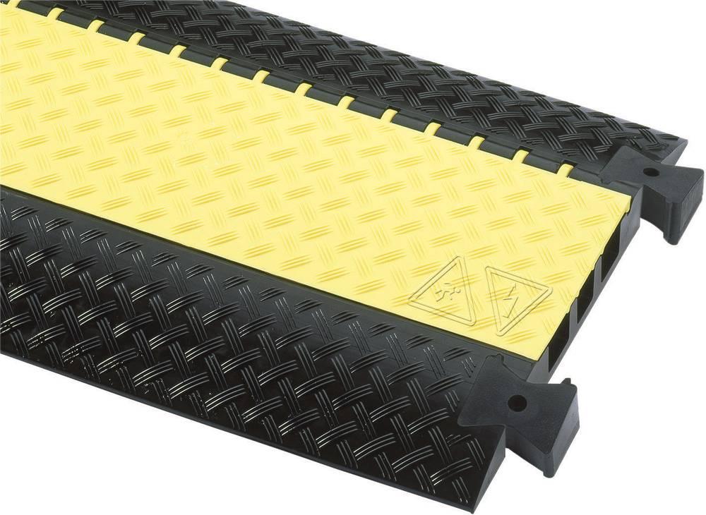 Talna zaščita za kable DEFENDER® III (D x Š x V) 1000 x 600 x 73 mm črna, rumena Adam Hall vsebina: 1 kos