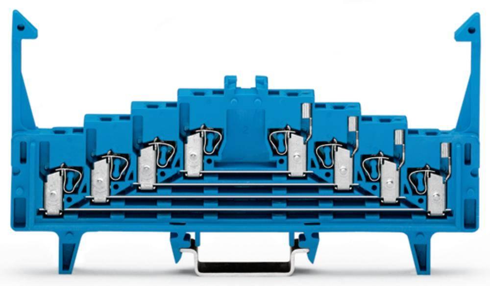 Tilslutningsklemme 7.62 mm Trækfjeder Belægning: N Blå WAGO 727-223 50 stk