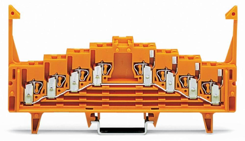 Potentialklemme 7.62 mm Trækfjeder Orange WAGO 727-225/023-000 50 stk