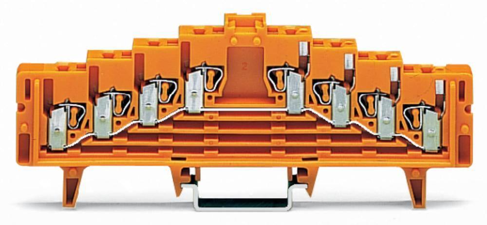 Potentialklemme 7.62 mm Trækfjeder Orange WAGO 727-226/021-000 50 stk