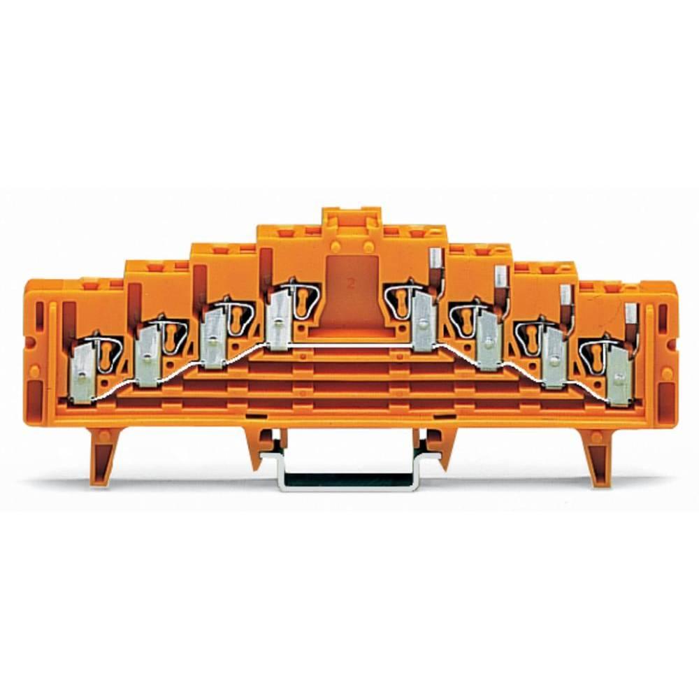 Potentialklemme 7.62 mm Trækfjeder Orange WAGO 727-236/024-000 50 stk