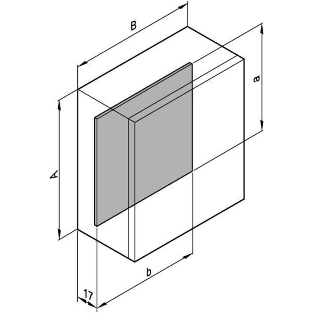 Schroff Mounting plates for conceptline wall housing 12406-812 Galvanized