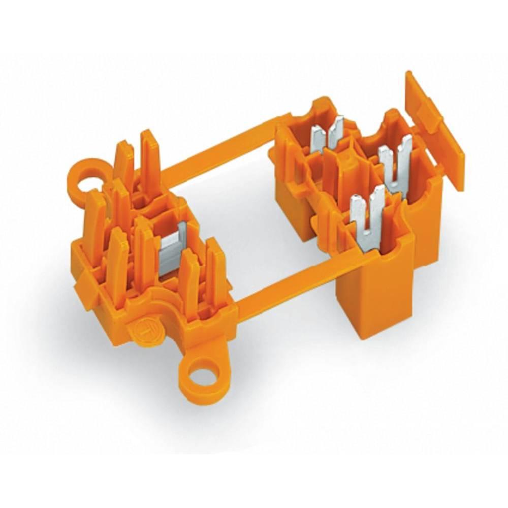 Povezovalna sponka, toga: 0.75-1.5 mm št. polov: 3 WAGO 730-123 50 kos oranžna