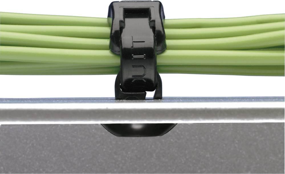 Panduit PBMS-H25-M30-Kabelska vezica s patentnim zatvaranjem, crna,1 komad