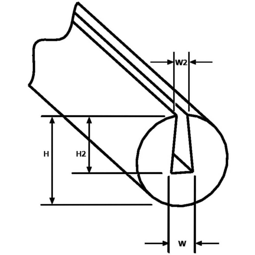 EdgeGuard zaščita robov PS1-PVC-BK-75M HellermannTyton vsebuje: meterski snop