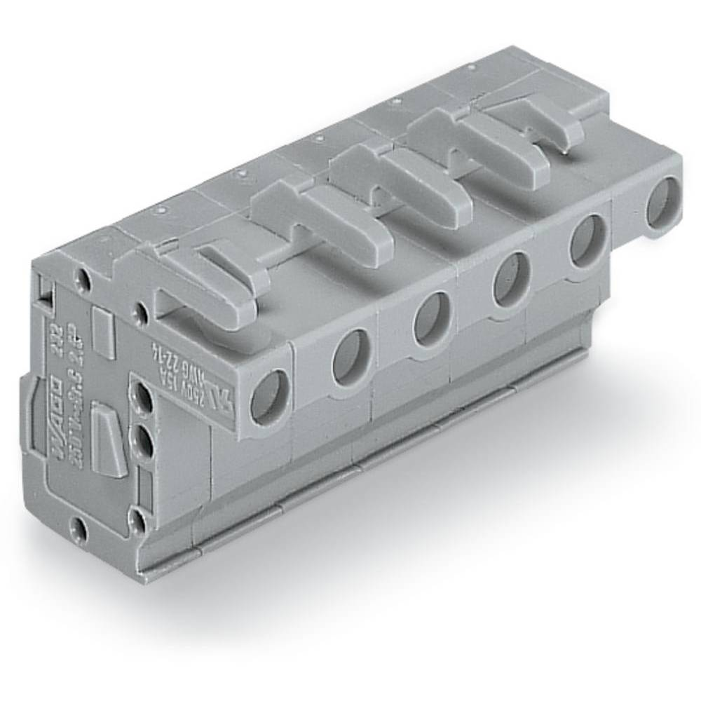Tilslutningskabinet-kabel 732 Samlet antal poler 2 WAGO 732-102/026-000 Rastermål: 7.50 mm 100 stk