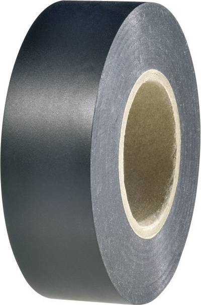 HellermannTyton 710-10611 Electrical tape HelaTape Flex 1000+ Black (L x W) 33 m x 50 mm 1 Rolls