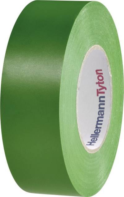 HellermannTyton 710-10606 Electrical tape HelaTape Flex 1000+ Green (L x W) 20 m x 19 mm 1 Rolls