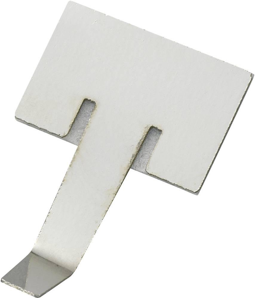 Pritrdilna sponka samolepljiva srebrne barve 543674 1 kos