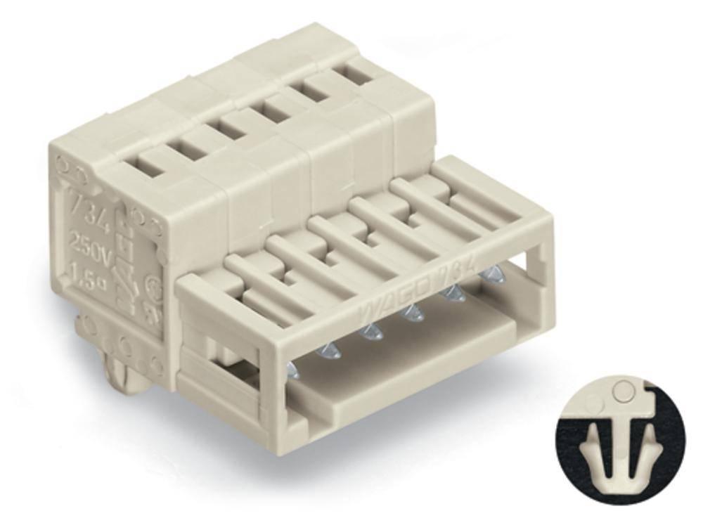 Pinski konektor (standarden) WAGO 734-304/018-000, mere: 3.50 mm 100 kosov