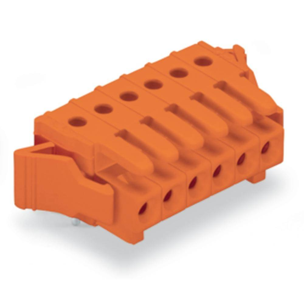 Industrial packaging unit, female multipoint connector Number of pins: 7 10 A Orange WAGO Content: 50 pc(s)