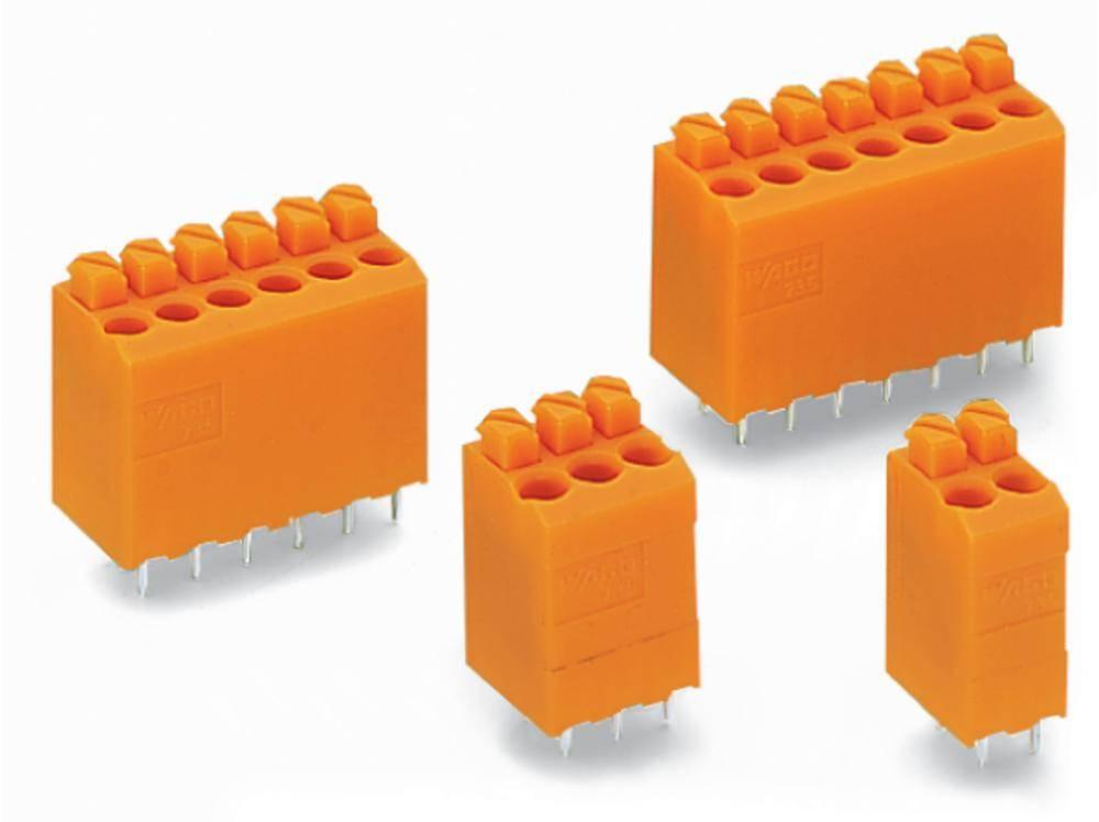 Fjederkraftsklemmeblok WAGO Poltal 6 Orange 220 stk
