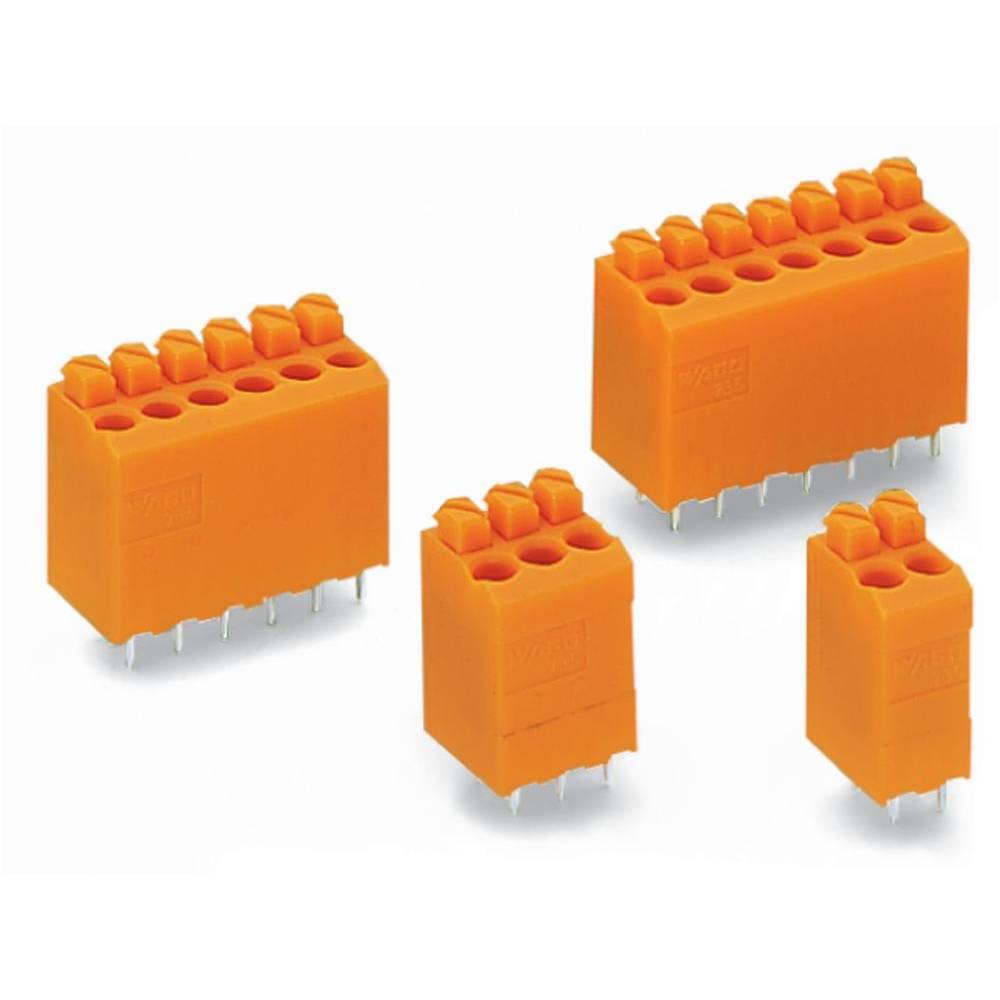 Fjederkraftsklemmeblok WAGO Poltal 2 Orange 660 stk