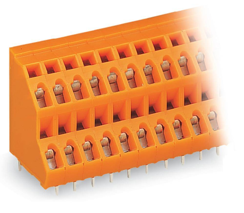 Dobbeltrækkeklemme WAGO 2.50 mm² Poltal 24 Orange 28 stk