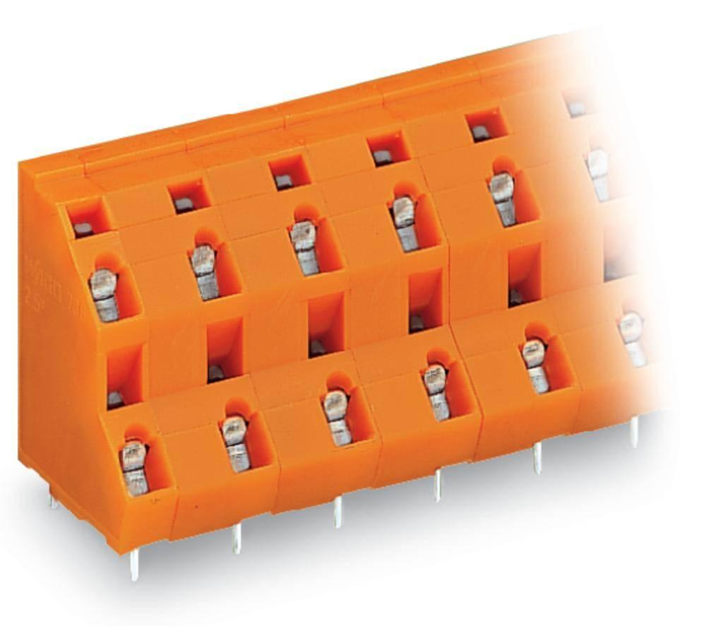Dobbeltrækkeklemme WAGO 2.50 mm² Poltal 12 Orange 28 stk