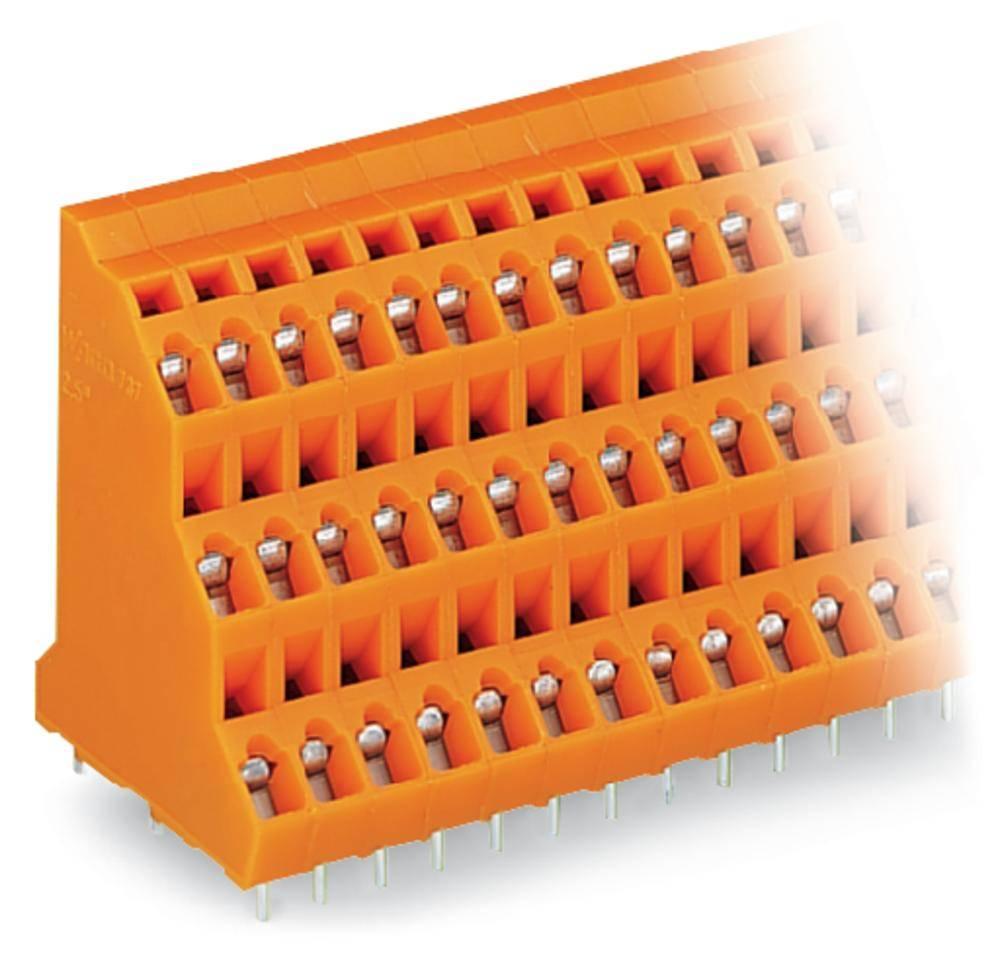 Tre-etagesklemme WAGO 2.50 mm² Poltal 24 Orange 24 stk
