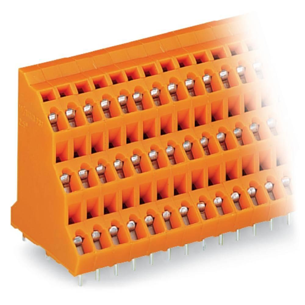 Tre-etagesklemme WAGO 2.50 mm² Poltal 48 Orange 12 stk