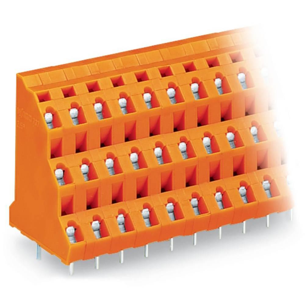 Tre-etagesklemme WAGO 2.50 mm² Poltal 18 Orange 20 stk