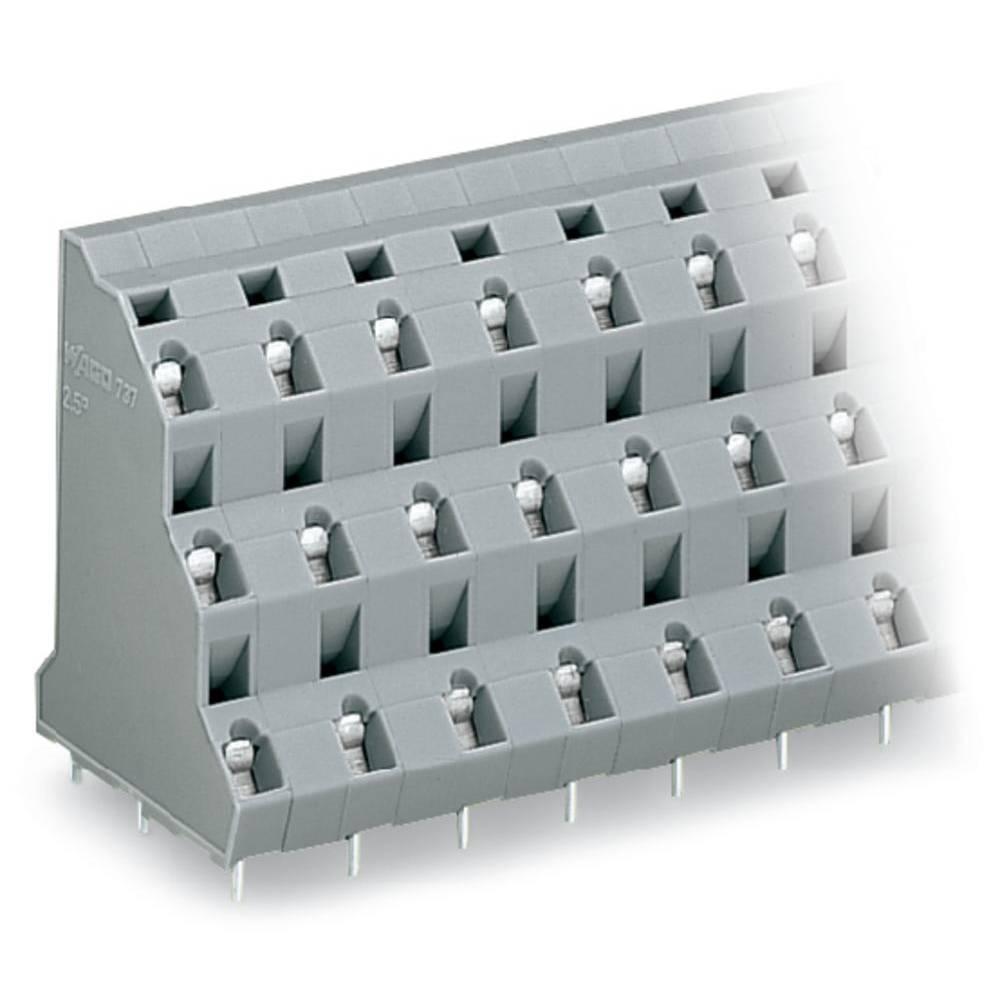 Tre-etagesklemme WAGO 2.50 mm² Poltal 12 Grå 28 stk
