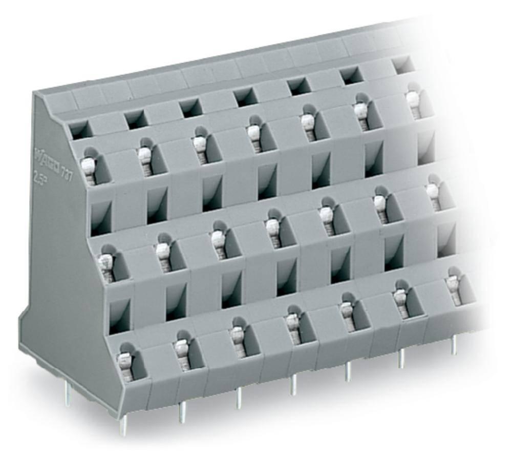 Tre-etagesklemme WAGO 2.50 mm² Poltal 18 Grå 16 stk