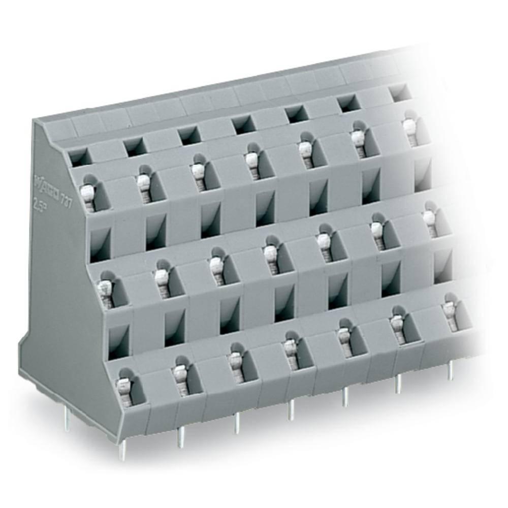 Tre-etagesklemme WAGO 2.50 mm² Poltal 24 Grå 12 stk