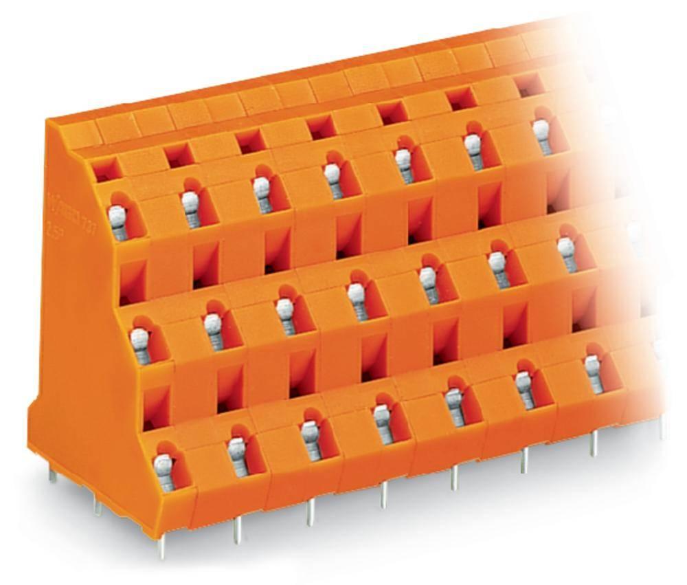 Tre-etagesklemme WAGO 2.50 mm² Poltal 6 Orange 64 stk