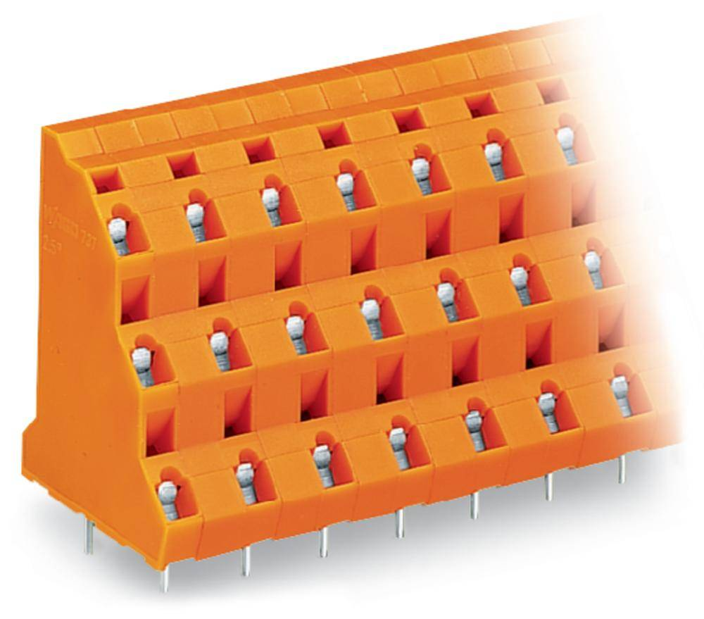 Tre-etagesklemme WAGO 2.50 mm² Poltal 12 Orange 28 stk
