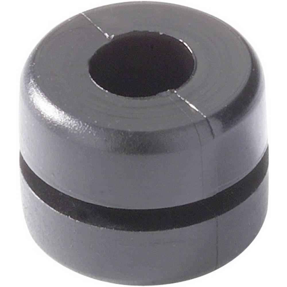 Kabelska uvodnica premer sponke (maks.) 4 mm PVC črne barve HellermannTyton HV1212-PVC-BK-N1 1 kos