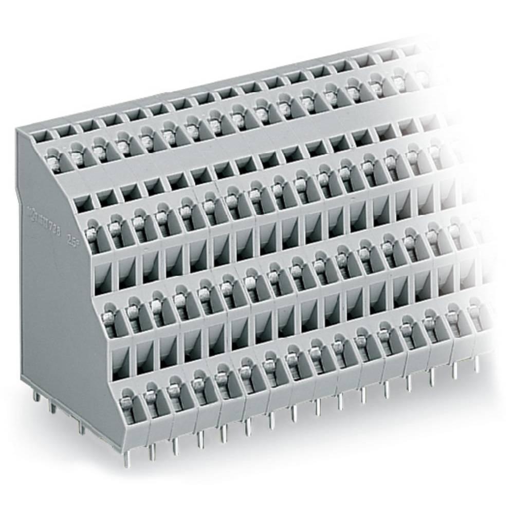 Fireetagers-klemme WAGO 2.50 mm² Poltal 64 Grå 9 stk