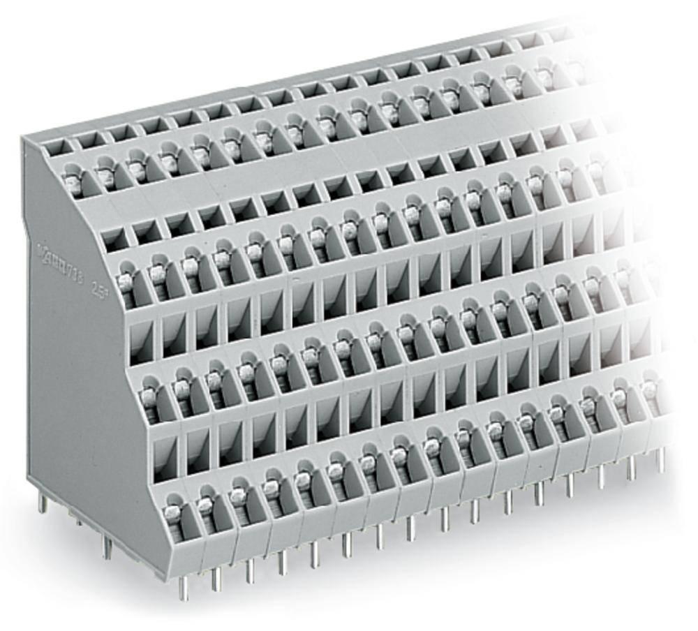 Fireetagers-klemme WAGO 2.50 mm² Poltal 48 Grå 12 stk