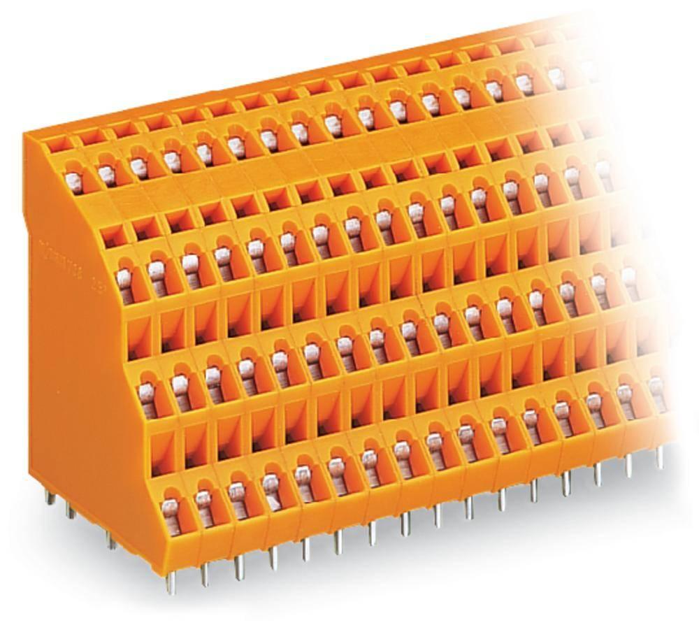 Fireetagers-klemme WAGO 2.50 mm² Poltal 96 Orange 6 stk