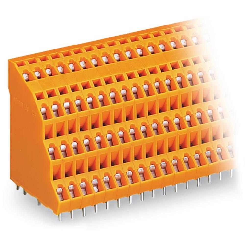 Fireetagers-klemme WAGO 2.50 mm² Poltal 8 Orange 69 stk
