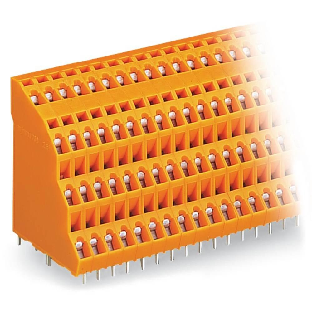 Fireetagers-klemme WAGO 2.50 mm² Poltal 24 Orange 24 stk