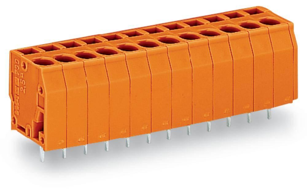 Fjederkraftsklemmeblok WAGO 2.50 mm² Poltal 10 Orange 80 stk