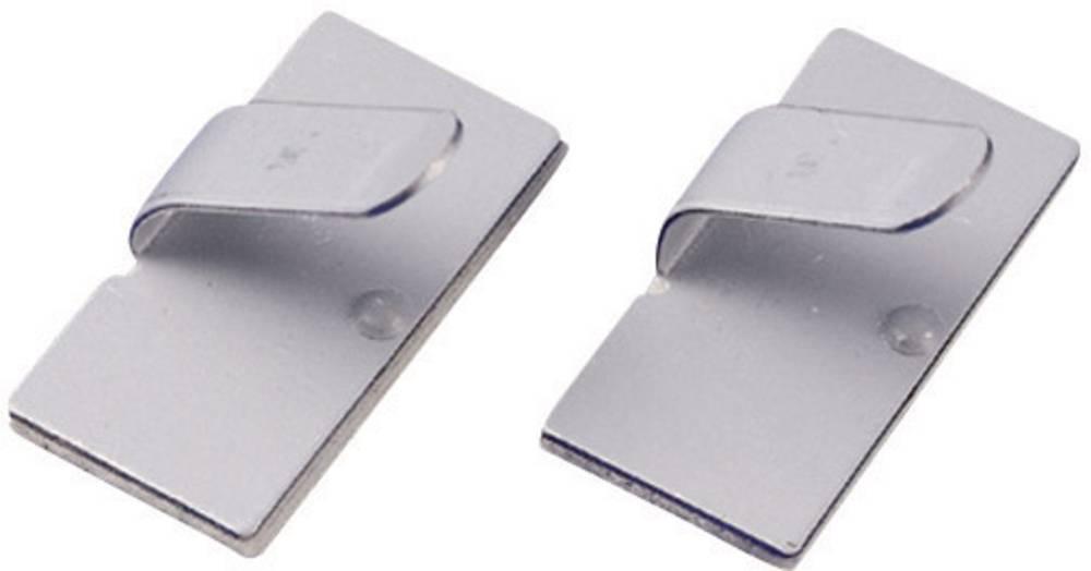 Pritrdilno podnožje, samolepljivo srebrne barve KSS 28530c100 MWCR25 1 kos