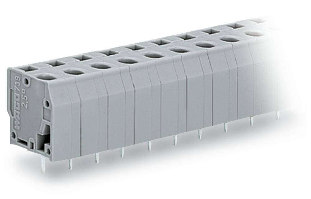 Fjederkraftsklemmeblok WAGO 2.50 mm² Poltal 3 Grå 220 stk