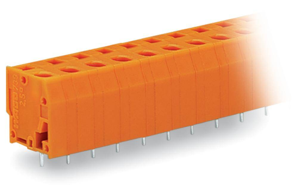 Fjederkraftsklemmeblok WAGO 2.50 mm² Poltal 6 Orange 100 stk