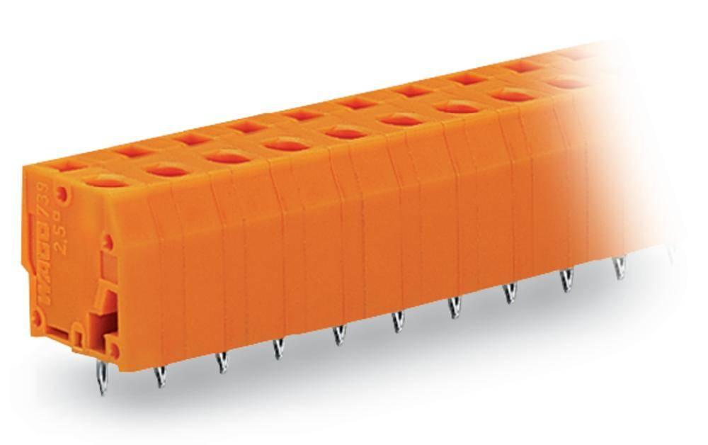 Fjederkraftsklemmeblok WAGO 2.50 mm² Poltal 3 Orange 220 stk