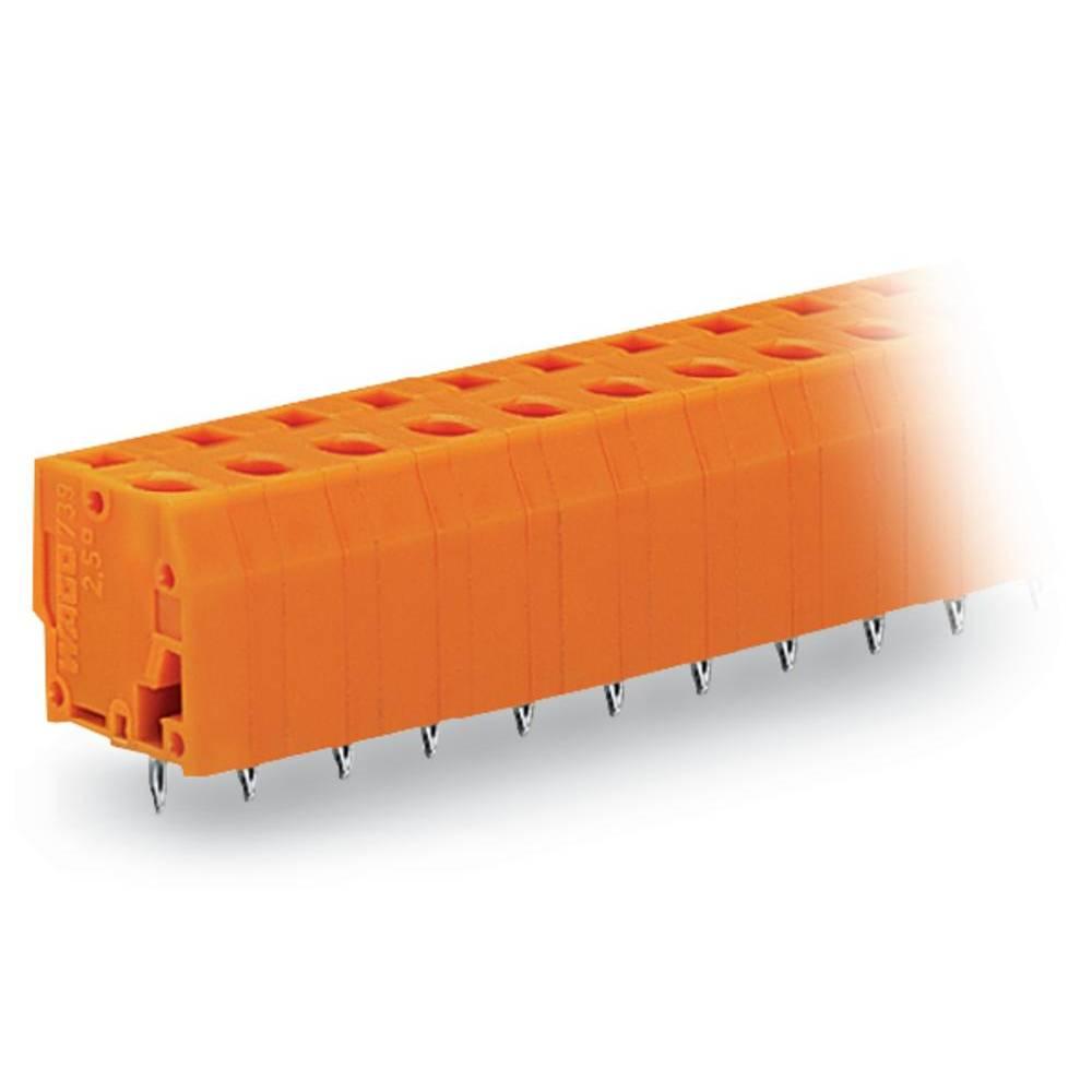Fjederkraftsklemmeblok WAGO 2.50 mm² Poltal 4 Orange 160 stk