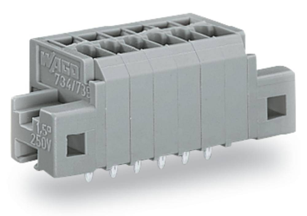 Fjederkraftsklemmeblok WAGO 1.50 mm² Poltal 8 Grå 160 stk