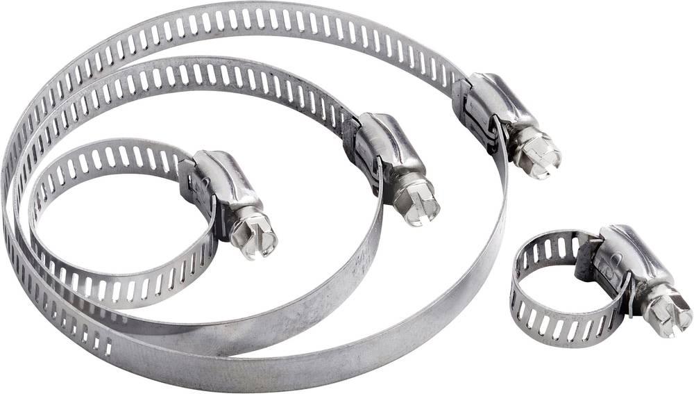 Objemka za cev vijak, s šesterorobo glavo in režo srebrne barve 544906 1 kos