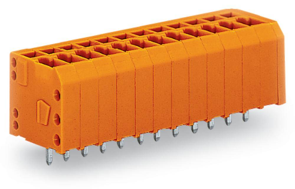 Fjederkraftsklemmeblok WAGO 1.50 mm² Poltal 7 Orange 160 stk