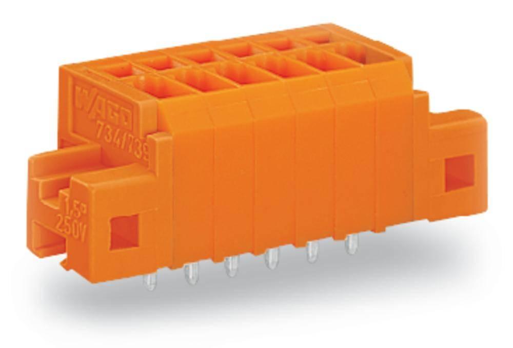 Fjederkraftsklemmeblok WAGO 1.50 mm² Poltal 10 Orange 80 stk